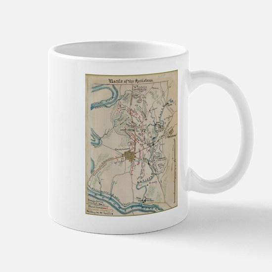 Vintage Map of Antietam Battlefield (1865) Mugs