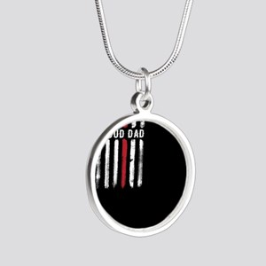 Thin Red Line Dad Firefighter Son Daught Necklaces