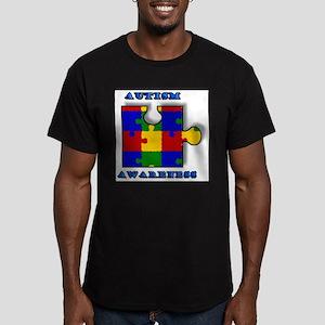 """Autism Awarness"" Men's Fitted T-Shirt (dark)"