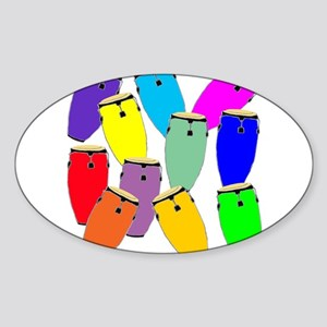 Rainbow Conga Sticker