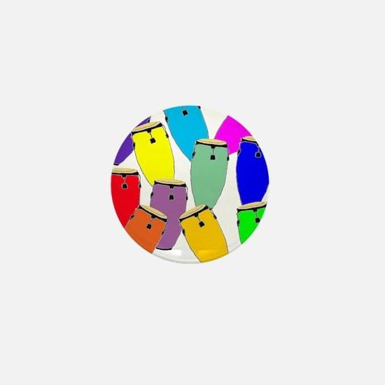 Rainbow Conga Mini Button