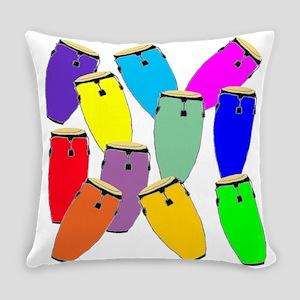 Rainbow Conga Everyday Pillow