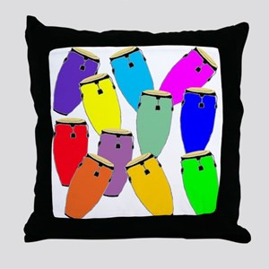 Rainbow Conga Throw Pillow