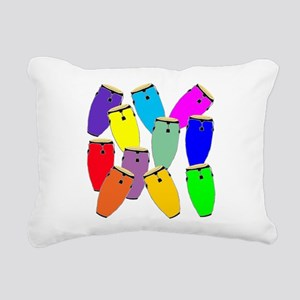 Rainbow Conga Rectangular Canvas Pillow