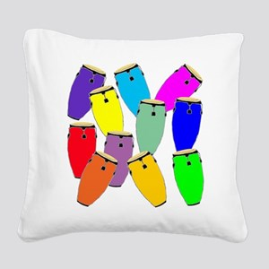 Rainbow Conga Square Canvas Pillow