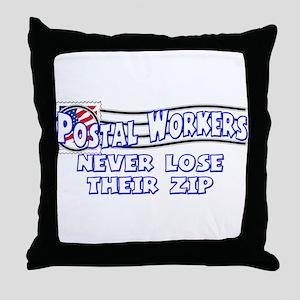 Postal Worker Throw Pillow