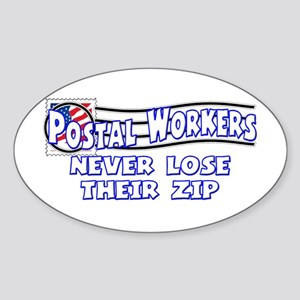 Postal Worker Oval Sticker