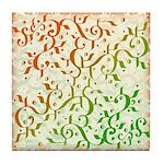 Abstract Arabic Tile Coaster