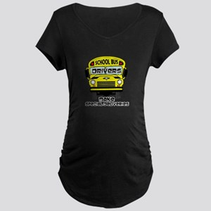 School Bus Driver Maternity Dark T-Shirt