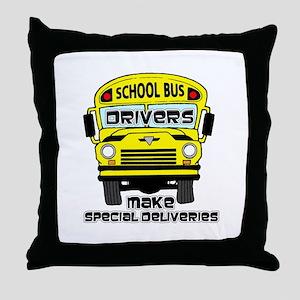 School Bus Driver Throw Pillow