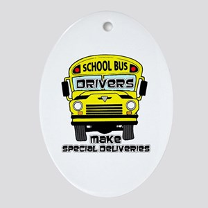 School Bus Driver Oval Ornament