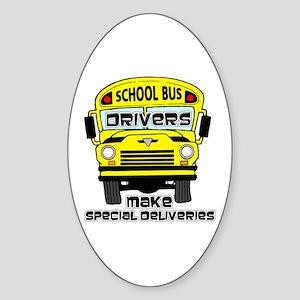 School Bus Driver Oval Sticker