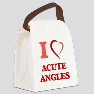 I Love Acute Angles Canvas Lunch Bag