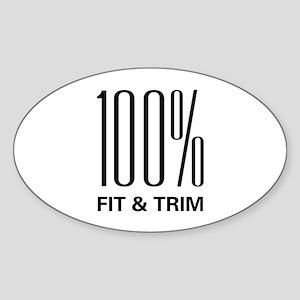 100 Percent Fit & Trim Oval Sticker