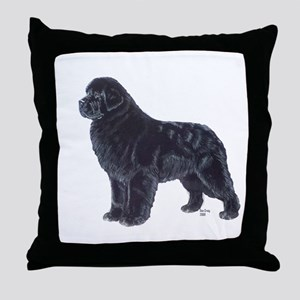 Newfoundland Black Throw Pillow