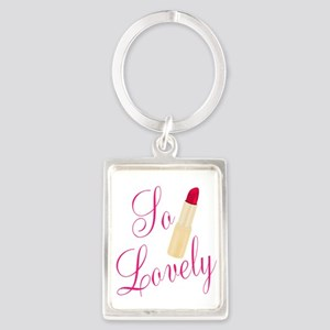 So Lovely Red Lipstick Keychains