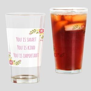 Words of Wisdom 1 Drinking Glass