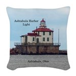 Ashtabula Harbor Light Woven Throw Pillow