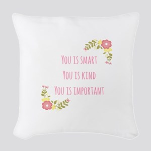 Words of Wisdom 1 Woven Throw Pillow
