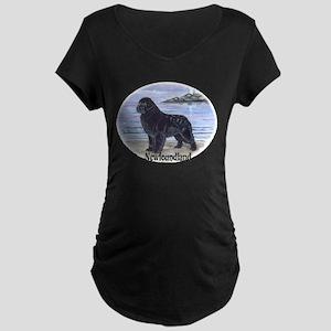 Newfoundland Dawn Patrol Maternity Dark T-Shirt