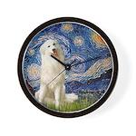 Starry Night / Pyrenees Wall Clock
