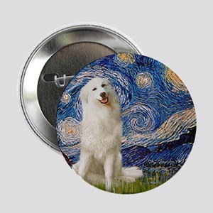 """Starry Night / Pyrenees 2.25"""" Button"""