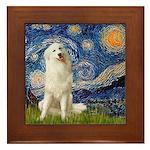 Starry Night / Pyrenees Framed Tile