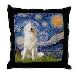 Starry Night / Pyrenees Throw Pillow