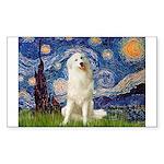 Starry Night / Pyrenees Sticker (Rectangle)