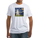 Starry Night / Pyrenees Fitted T-Shirt