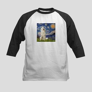 Starry Night / Pyrenees Kids Baseball Jersey