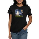 Starry Night / Pyrenees Women's Dark T-Shirt
