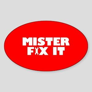 Mister Fix It Sticker (Oval)