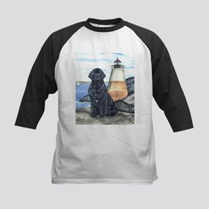 Newfoundland Lighthouse Dog - Kids Baseball Jersey
