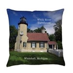 White River Lighthouse Everyday Pillow
