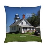 Old Mission Point Lighthouse Everyday Pillow