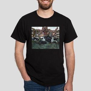Newfoundland Mom and Pups Lan Dark T-Shirt