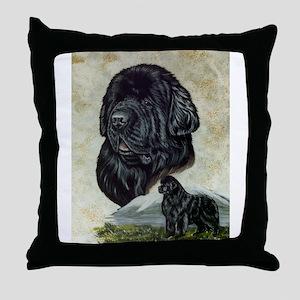 Newfoundland Portrait Throw Pillow