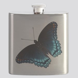 Red Spotted Purple Butterfly Flask