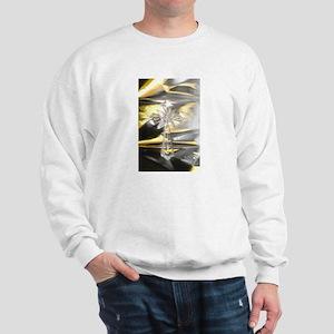 Cross Gold/Silver with Light Sweatshirt