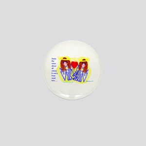 Big eyed twin Angels/ Mini Button (10 pack)