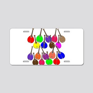 Rainbow Mandolins Aluminum License Plate
