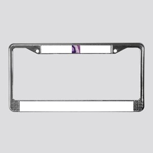 layer of purple goodness License Plate Frame