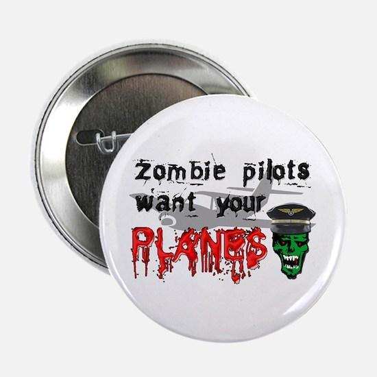 """Zombie Pilot 2.25"""" Button"""