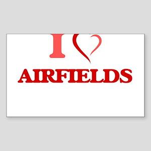 I Love Airfields Sticker
