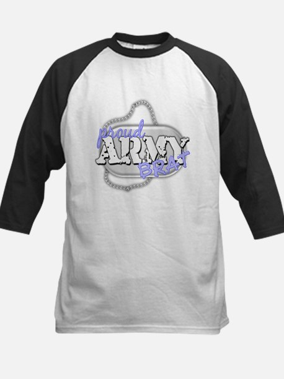 PROUD ARMY BRAT BLUE Kids Baseball Jersey