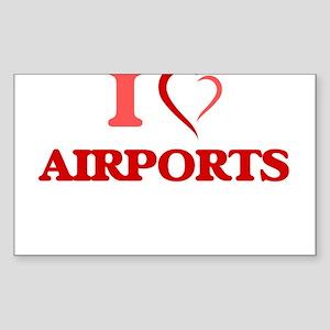 I Love Airports Sticker