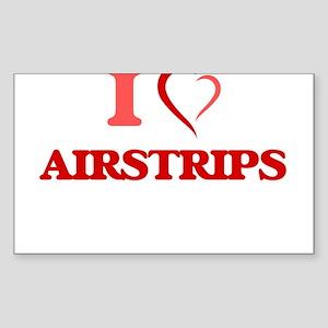 I Love Airstrips Sticker