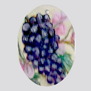 """""""Grapes and Roses"""" Oval Ornament"""