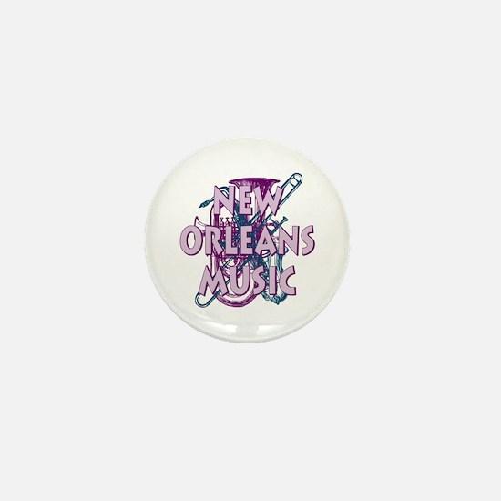 Purple New Orleans Music Mini Button